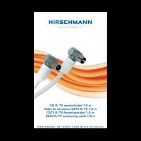 Hirschmann Koka799 Coaxkabel 1,5 meter met Coax IEC connector male en female