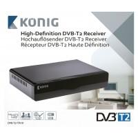 Konig FTA ontvanger Full HD DVB-T2 Ontvanger 1080p