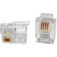 Modulaire 6 pins telefoon connector (6p/4c) RJ11